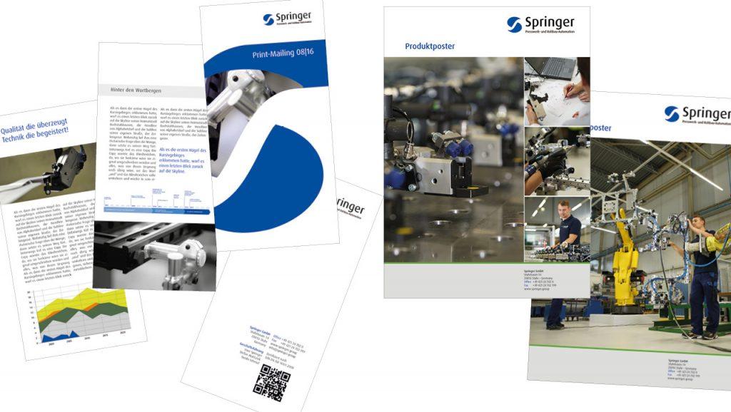 tecmotion – Corporate Design für die Springer Group, Ansichten Handbuch 01