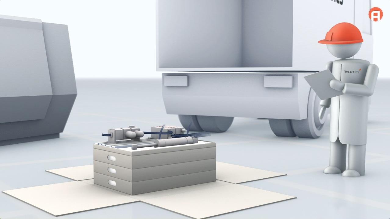 tecmotion - Marketingfilm für AVENTICS, Animation für den Bereich Systemtechnik, Abb. 03