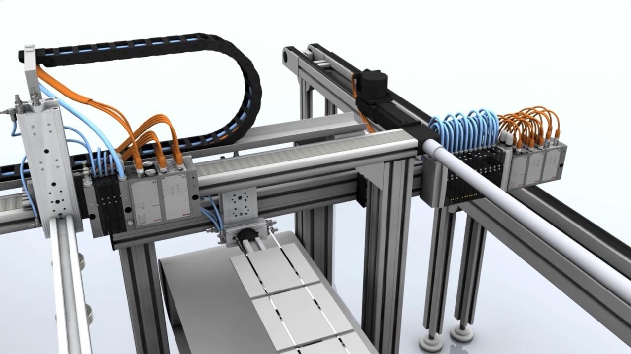 tecmotion - Produktanimation Pneumatik AVENTICS, Prozessdarstellung, Abb. 3