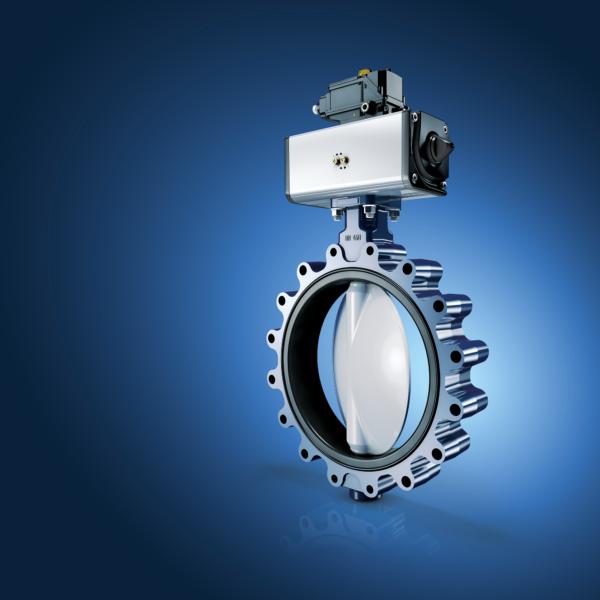 tecmotion-Technisches Rendering für KSB - Absperrklappe ISORIA 10