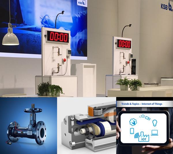 tecmotion - Collage 02 aus Projekten für Messen, u.a. Produktanimationen und Renderings für ISH und HM 2019