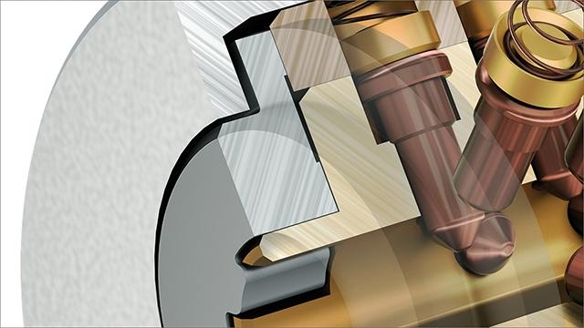 tecmotion - CAD-Visualisierung, Ausschnitt aus einem Projekt, Türschloss
