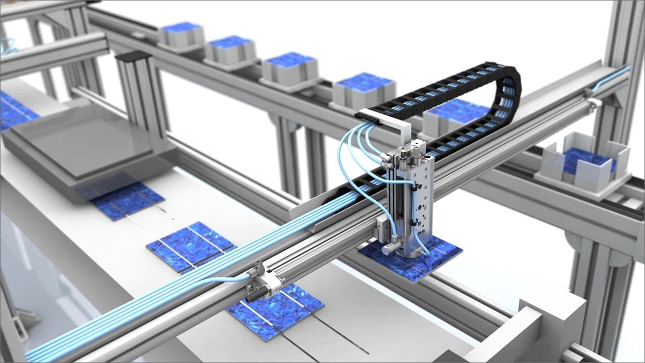 tecmotion - 3D Animation Pneumatik AVENTICS, Prozessdarstellung, Abb. 1
