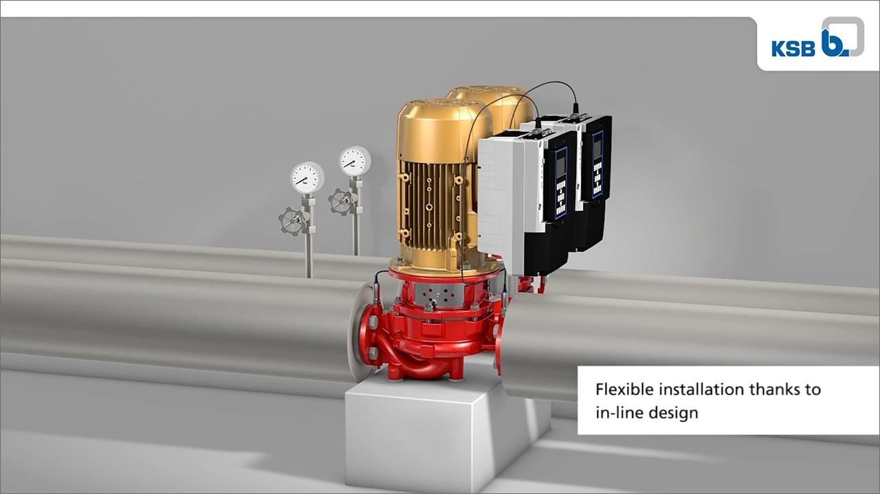 tecmotion-Ausschnitt 04 aus Produktanimation zur Pumpe Etaline von KSB