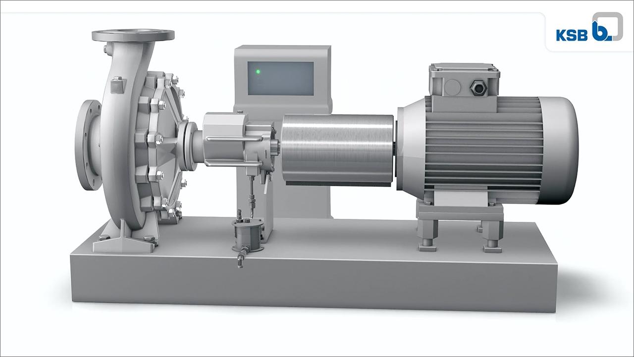 tecmotion - 3D-Animation der Pumpe Etanorm SYT von KSB für Messe, Abb. 01