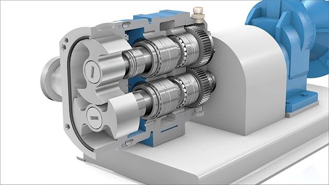 tecmotion - Ausschnitt einer Pumpen-Animation (Vitalobe) für KSB