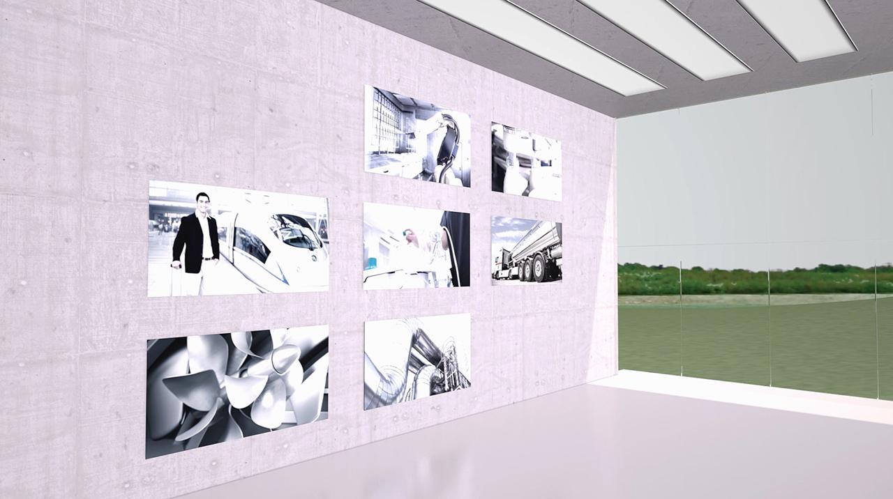 tecmotion - Emerson-Expertisefilm, Ausschnitt 03 Virtueller Raum, Ansicht mit Fenster