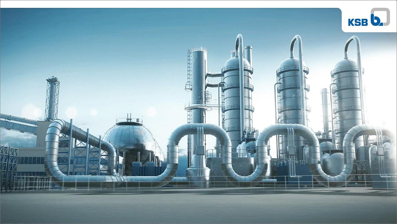 Animationsfilm KSB Chemiepumpen, Ausschnitt 02 Ansicht Chemieanlage