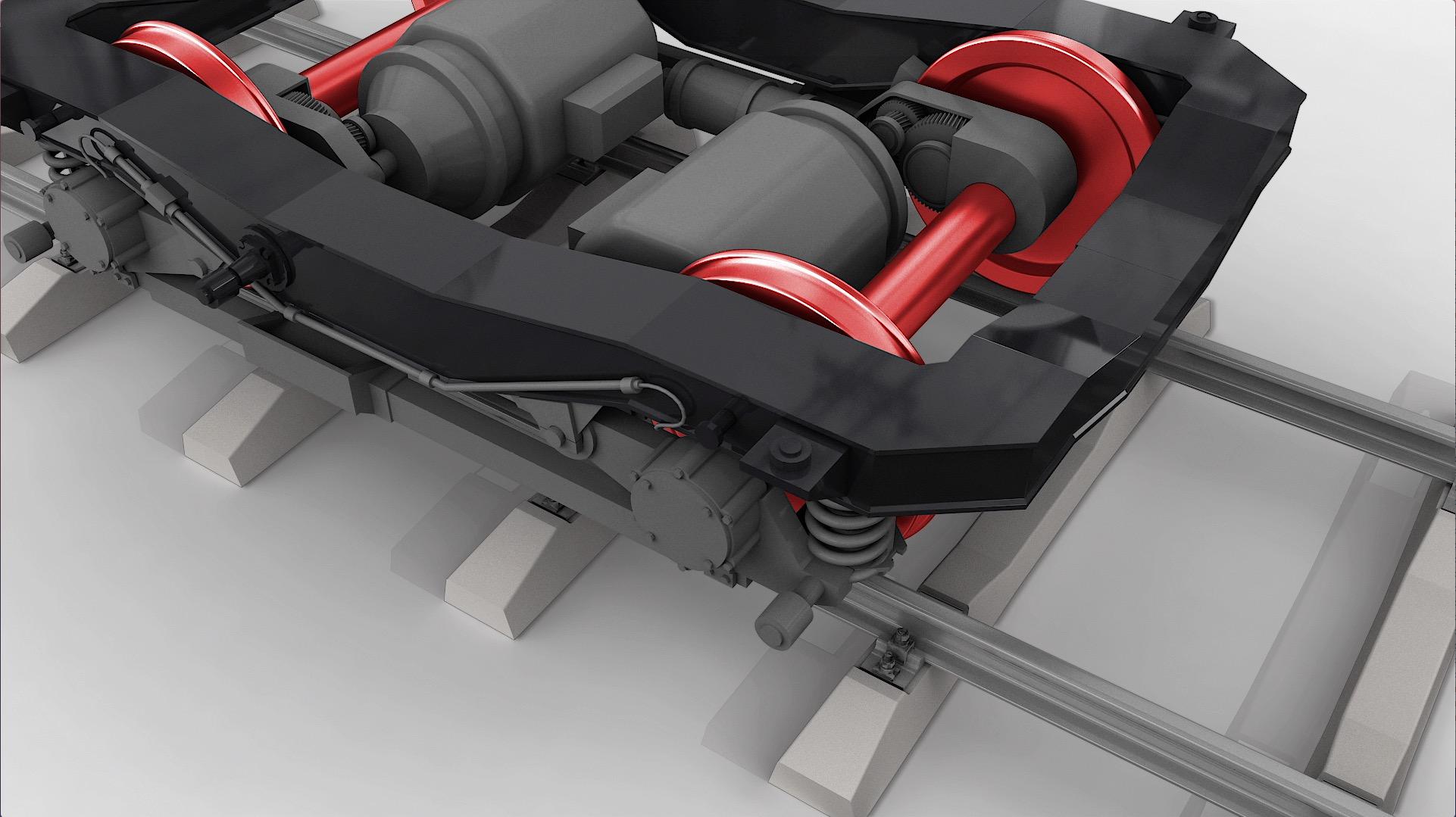 tecmotion - Produktanimation Kugellager von KRW, Einsatz im Drehgestell von Schienenfahrzeugen, Abb. 02