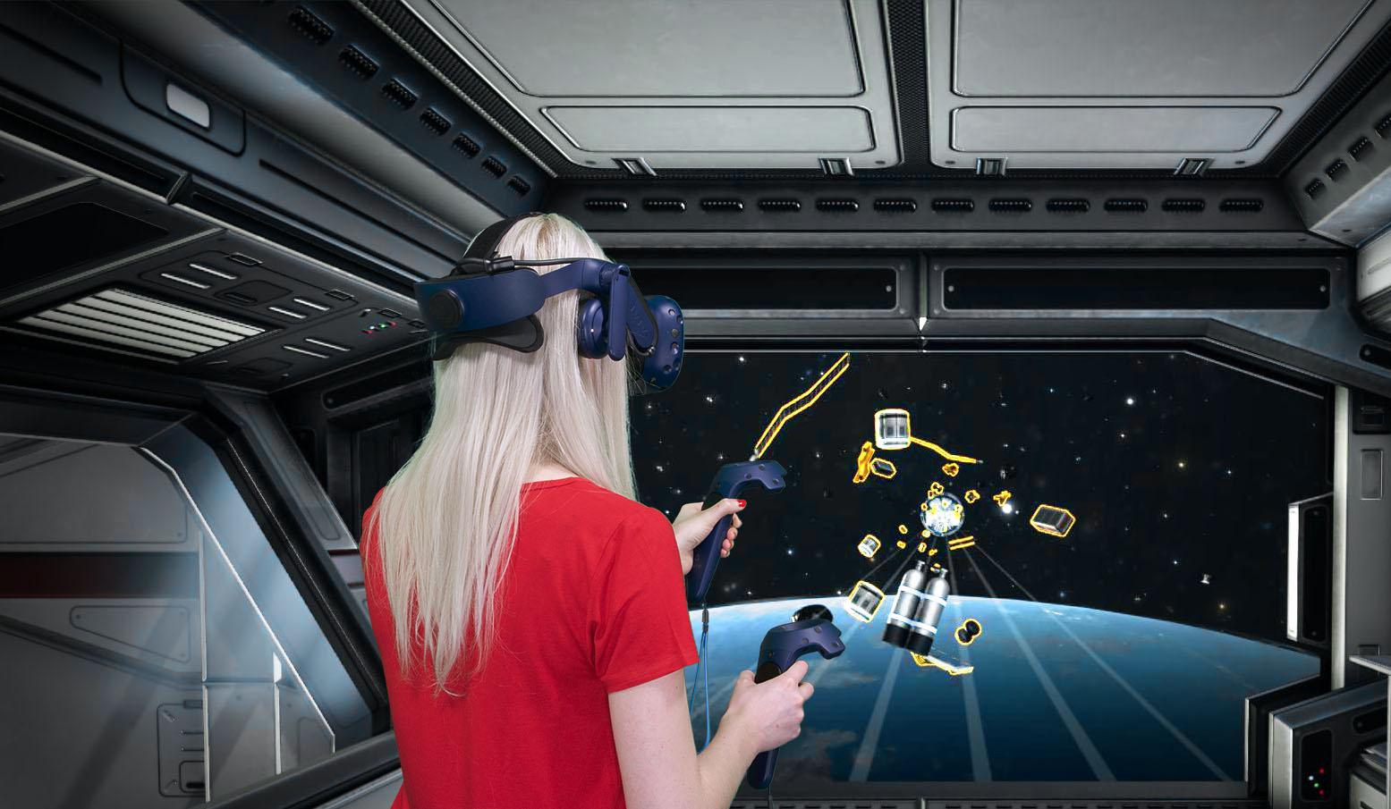 tecmotion - Neues Corporate Game mit VR-Brille; SpaceBoard - Spielausschnitt 1