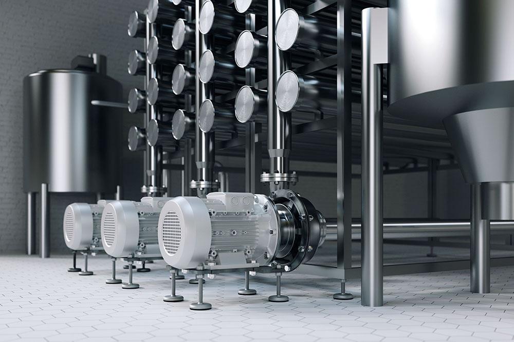 tecmotion – 3D Rendering Filterkeller in Brauerei für KSB