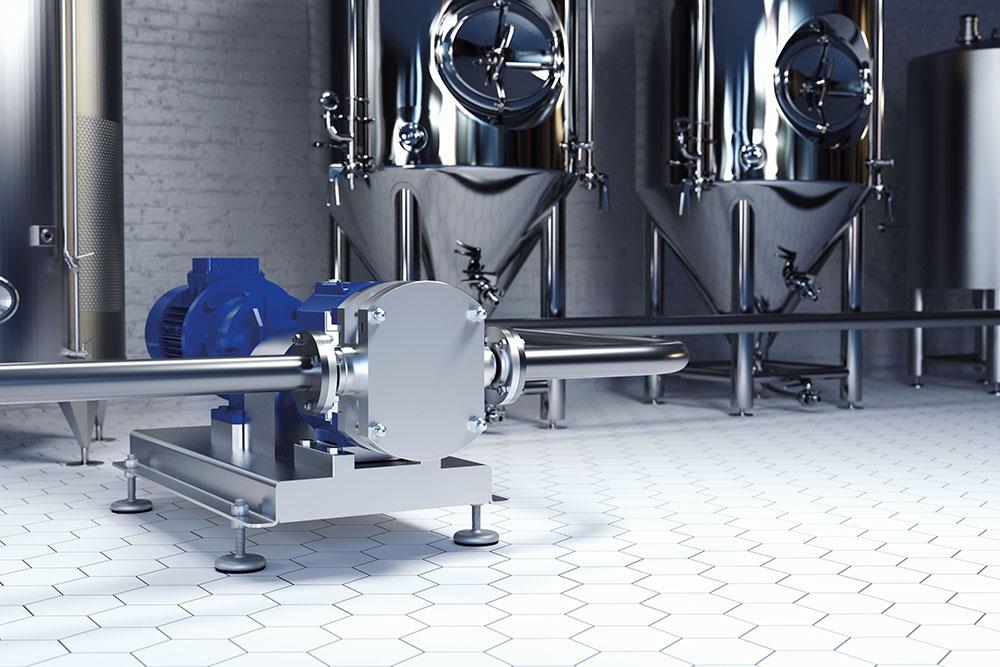 tecmotion – 3D Rendering Gärlagerkeller in Brauerei für KSB