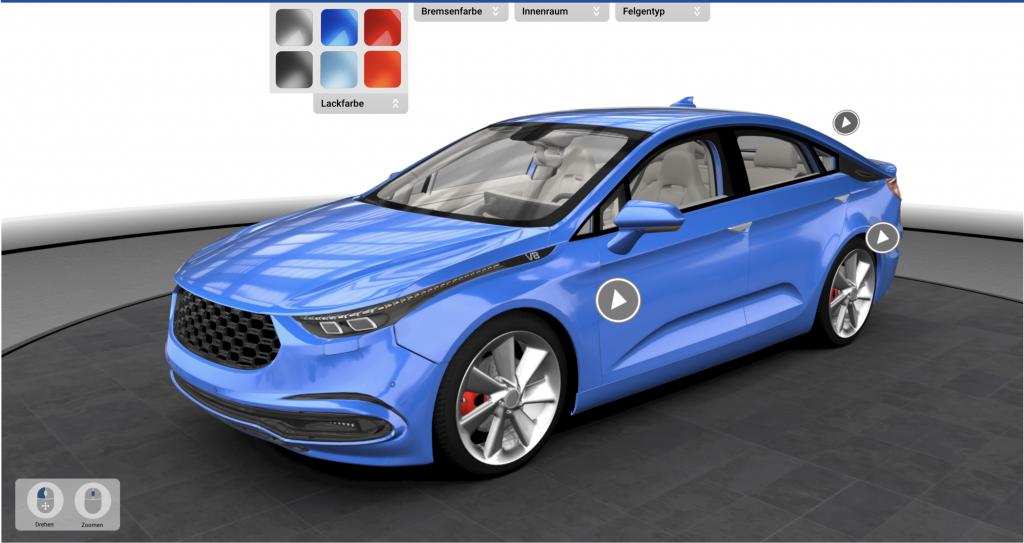 tecmotion – Teaserbild für Fahrzeug Konfigurator